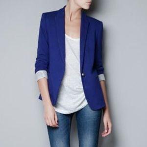 EUC Zara Woman Blue Blazer M